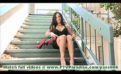 Zoey cute amateur latina with no panties masturbating with