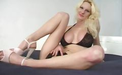 Long Legged Slut Loves Black Cock