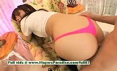 Ayane Sakurada amazing Chinese schoolgirl enjoys hard sex