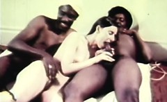 delicate retro threesome fucking