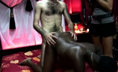 Ebony dutch hooker sprayed with cum