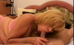 Naughty blonde granny