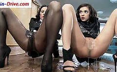 Euro hoes get wam in pantyhose