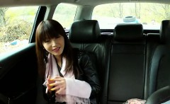 Pretty Asian gal tricked by the horny cab driver to have sex
