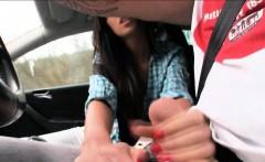 Skinny Hitch Hiking Teen Gina Devine Ripped In The Car