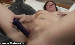 Horny housewife spreading her wet pussy