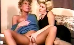 Classic lesbian porn with these two horny babes fingering pussy