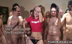 Horny brunette slut getting her body