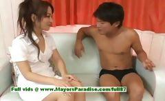 Miina innocent naughty asian girl gets pussy licked