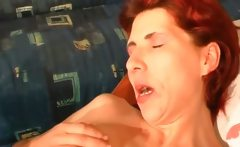 Redhead whore gets her anus ed