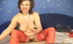 Big tits milf masturbating web show