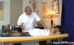 Asian milf has massage and fucking
