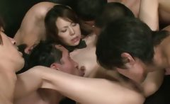 Horny Japanese Businessmen Playing with Kotone Aisaki