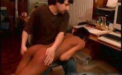 Teen ebony schoolgirl spanked