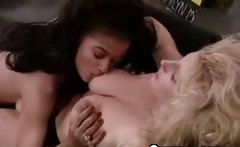 Ebony Slut Lesbian Licking Blonde