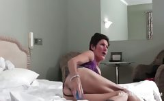 Mature babe quenching orgasm thirst with vibrator
