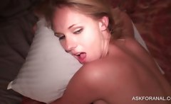 Blonde Stunner Taking Large Dick Into Her Ass Hole