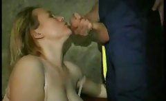 Hot Russian MILF get her face jizzed