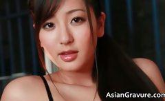 Incredible sexya real asian model posing