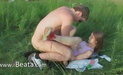 Brutal teenagers ass outdoor sex
