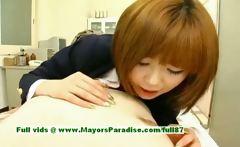 Rio Hamasaki innocent lovely Japanese girl teasing a man