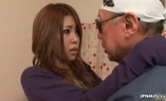 Horny asian milf goes crazy making out