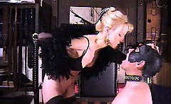 Sexy bizarre mature dominatrix extreme spitting fetish