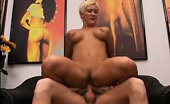 Blonde mature having cunt fisted hard